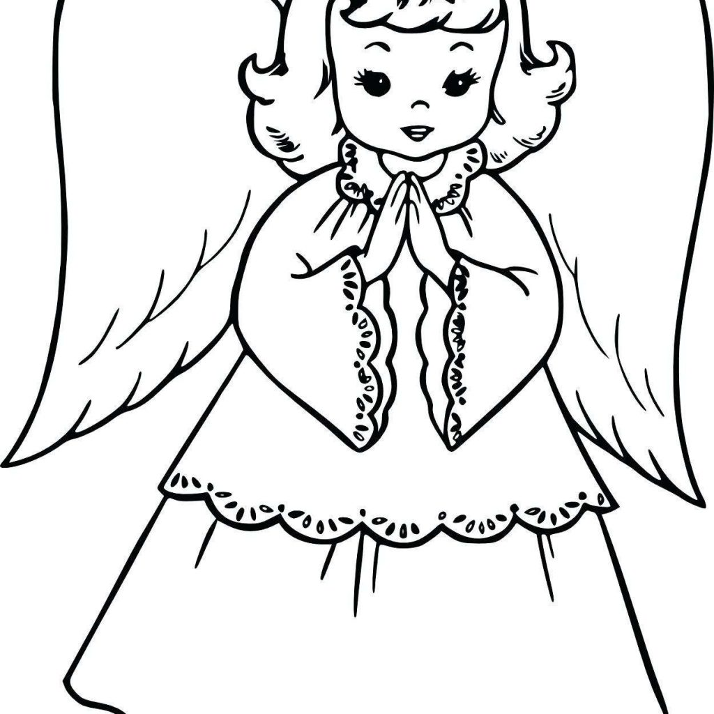 Christmas Angel Coloring Pages To Print With Anime Angels Save Girl