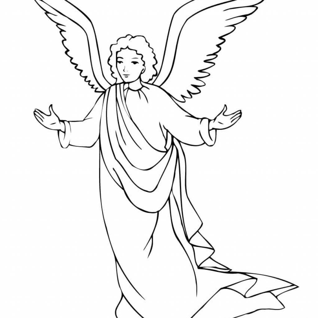 Christmas Angel Coloring Pages To Print With Page Free Printable