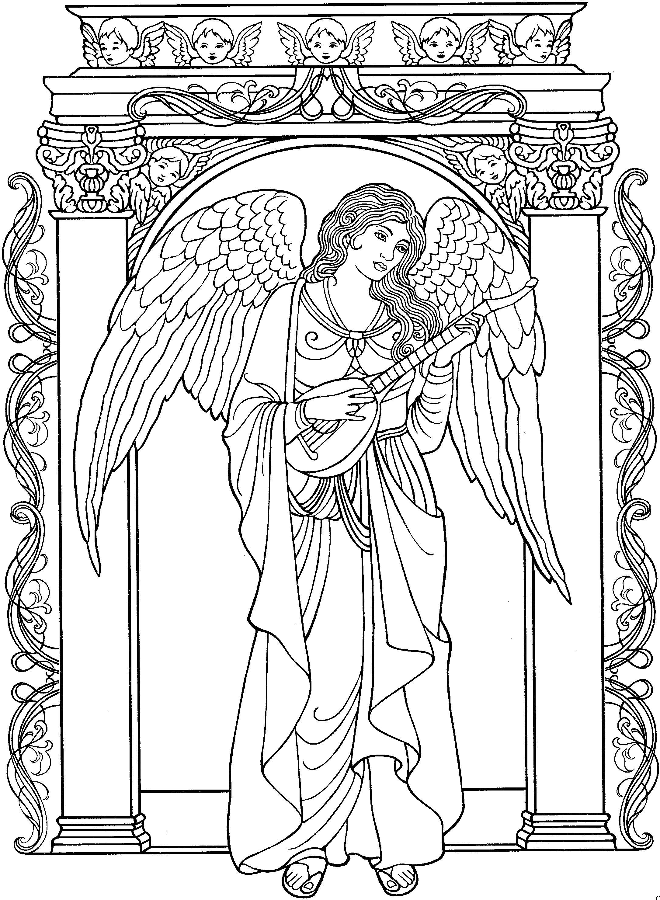 Christmas Angel Coloring Pages To Print With Pin By Ma Gorzata Kitka On Angels