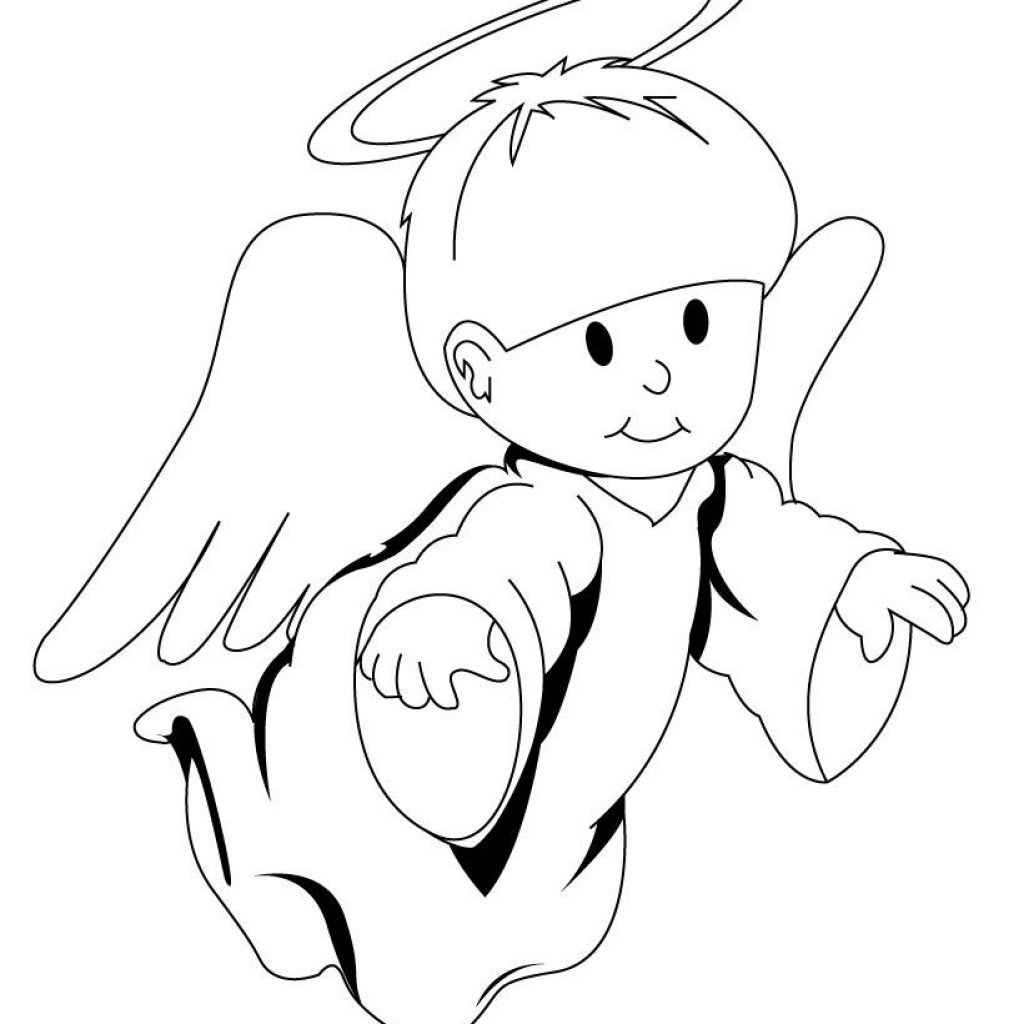 Christmas Angel Coloring Pages To Print With The Archangel Page Fairy Angels Peri Ve Melekler