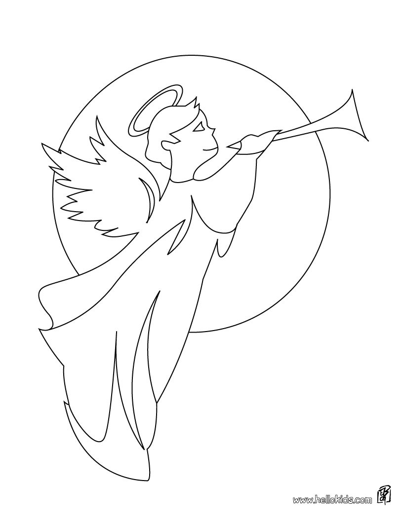 Christmas Angel Coloring Pages With CHRISTMAS ANGELS 17 Xmas Online Books And