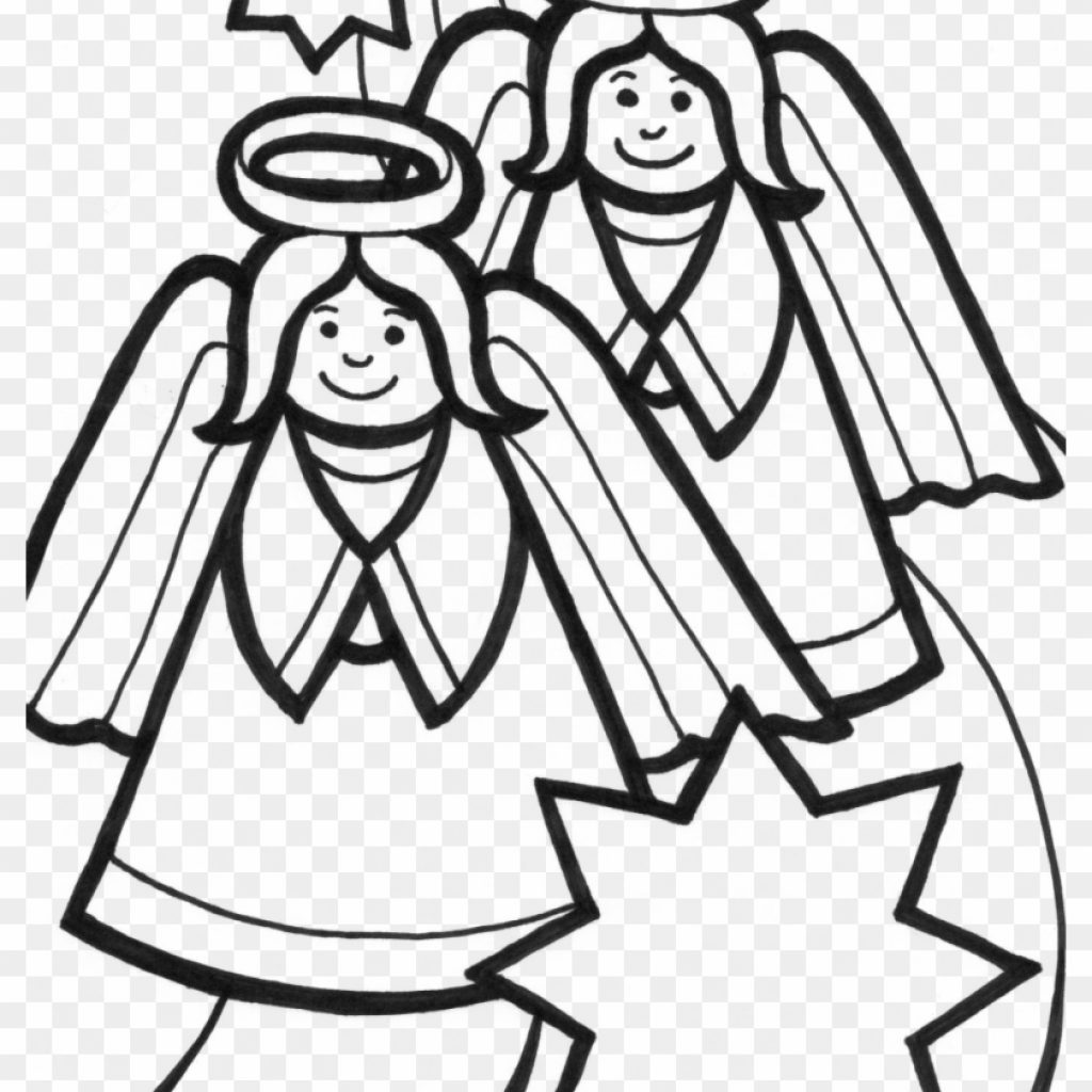 Christmas Angel Coloring Pages With Free Angels Sheets