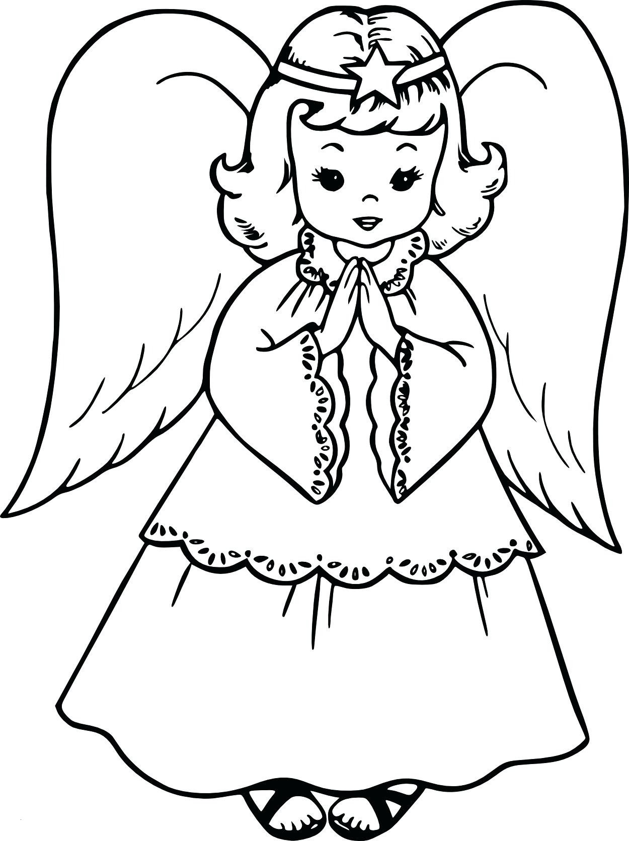 Christmas Angel Ornaments Coloring Pages Printable With New Stylish