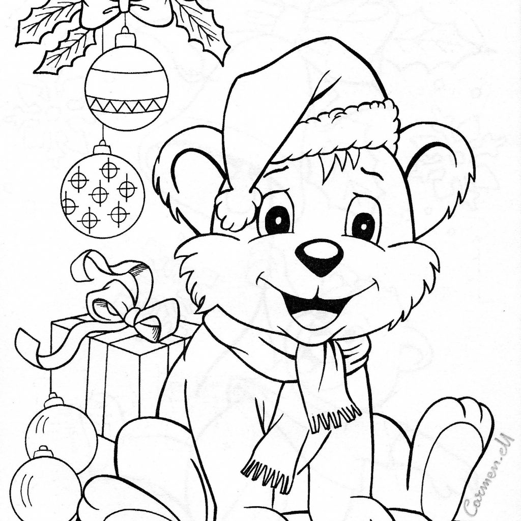 Christmas Animal Coloring Pages With Colouring Pinterest