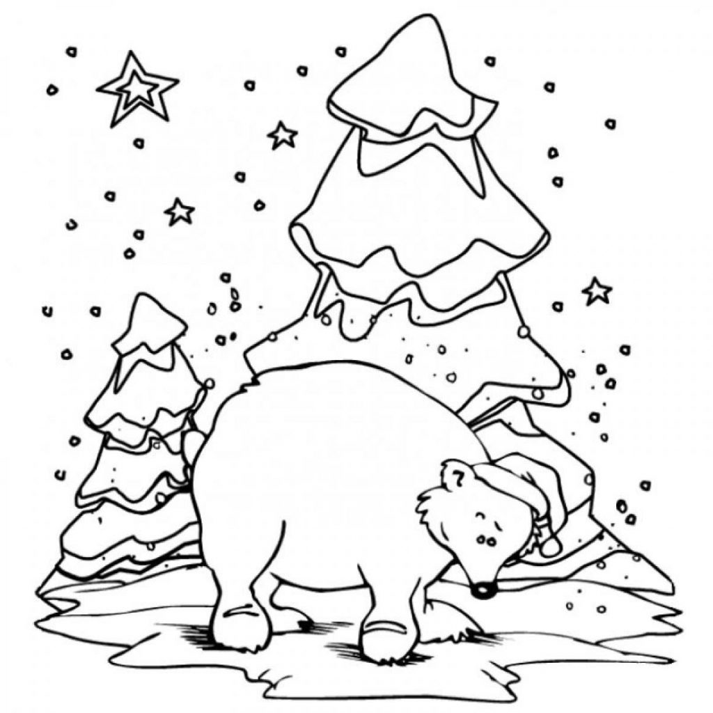 Christmas Animal Coloring Pages With New Of Winter Pictures Printable