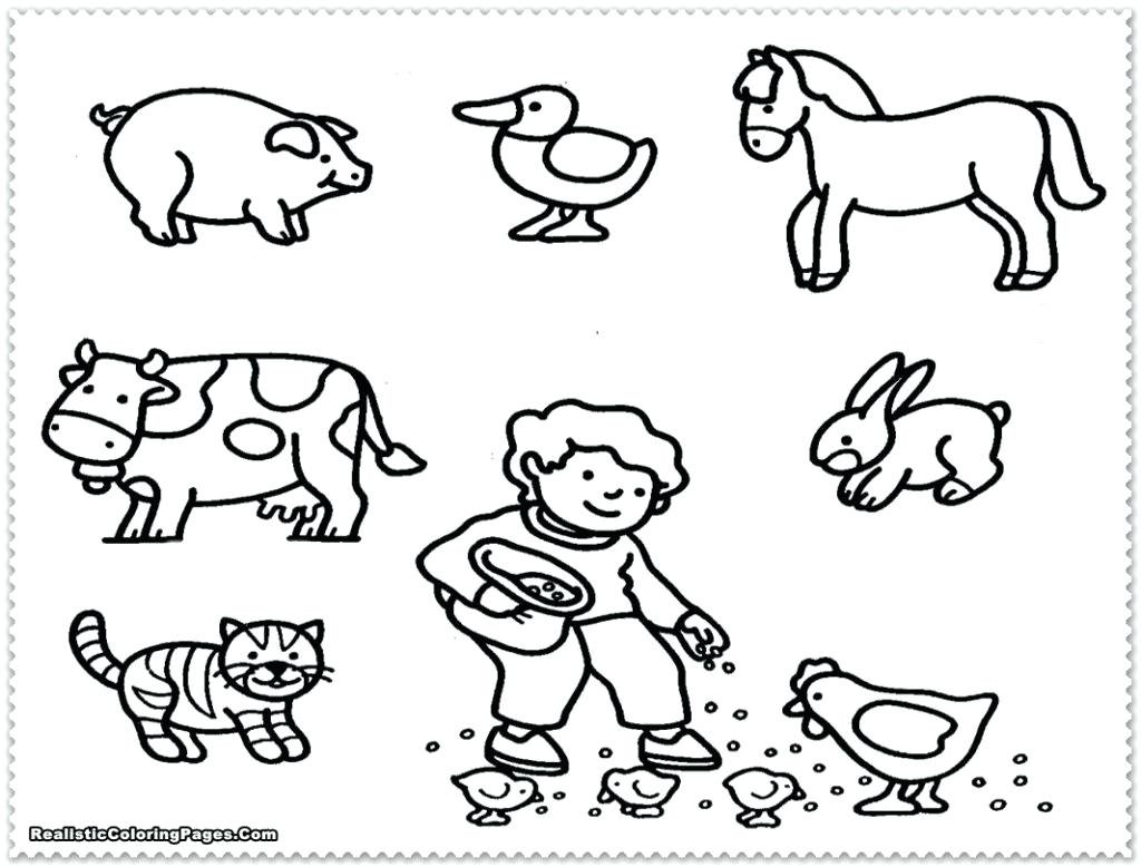 Christmas Animal Coloring Pages With Printable Page For Kids