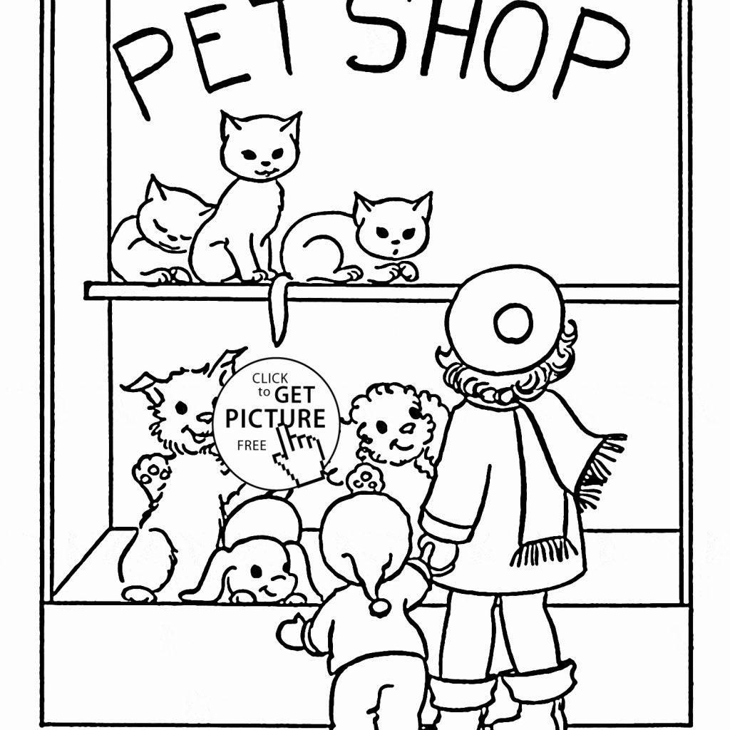 Christmas Animals Coloring Pages Printable With Momjunction Unique Pet Shop Page
