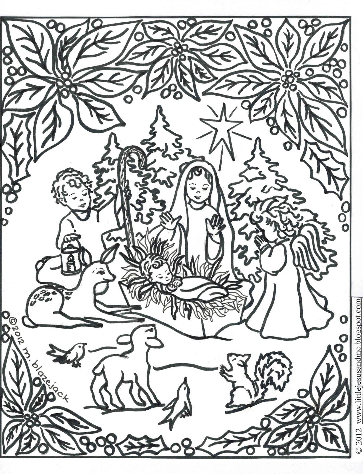 Christmas Animals Coloring Pages Printable With Runninggames Me At