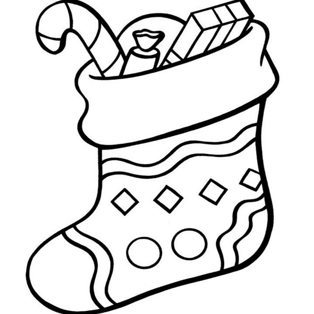 christmas-art-coloring-pages-with-how-to-draw-stocking-for-easy-kids