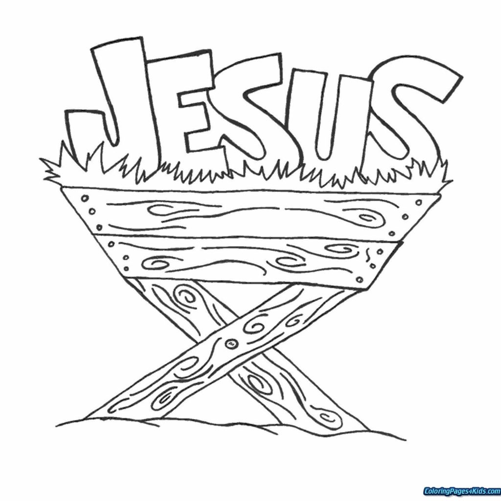 Christmas Baby Jesus Coloring Pages With For Kids