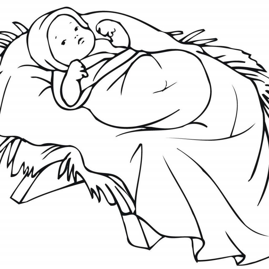 Christmas Baby Jesus Coloring Pages With Hundreds Of Free Printable Xmas And Activity