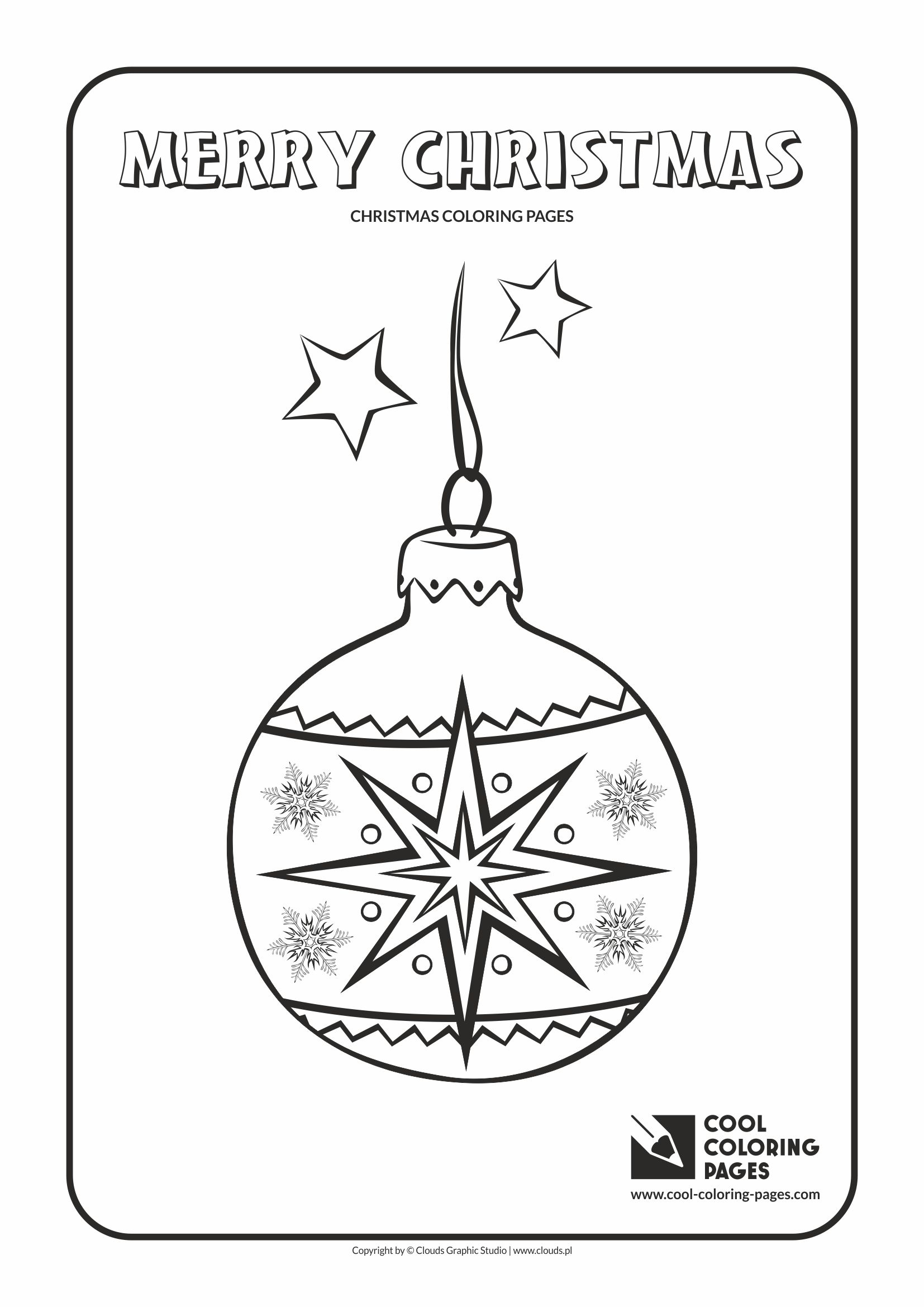 Christmas Ball Printable Coloring Pages With Cool