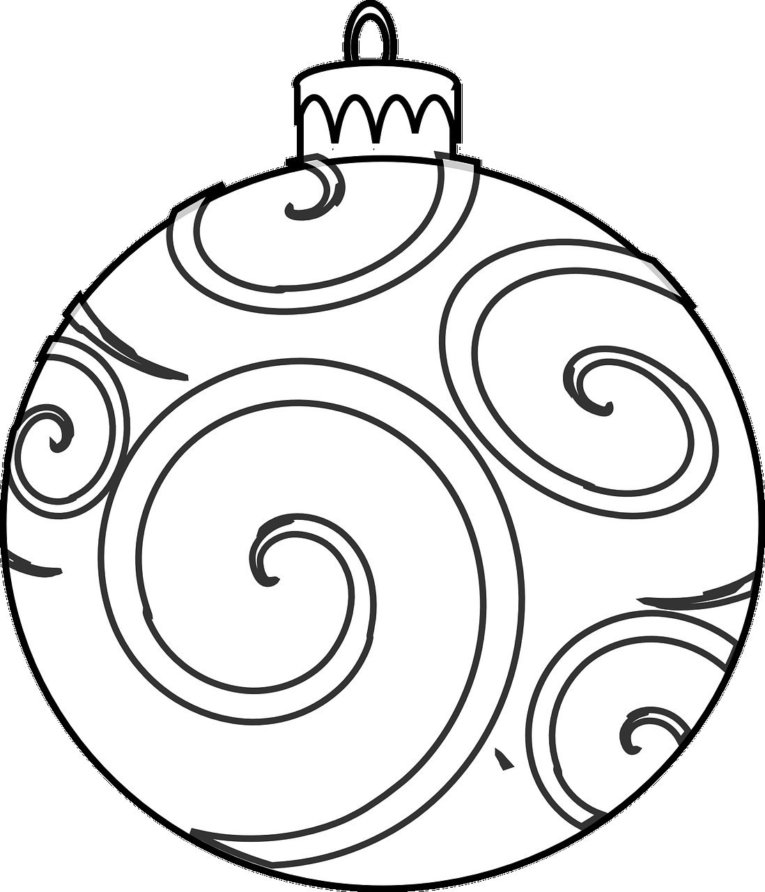Christmas Ball Printable Coloring Pages With Decorations Page For Kids