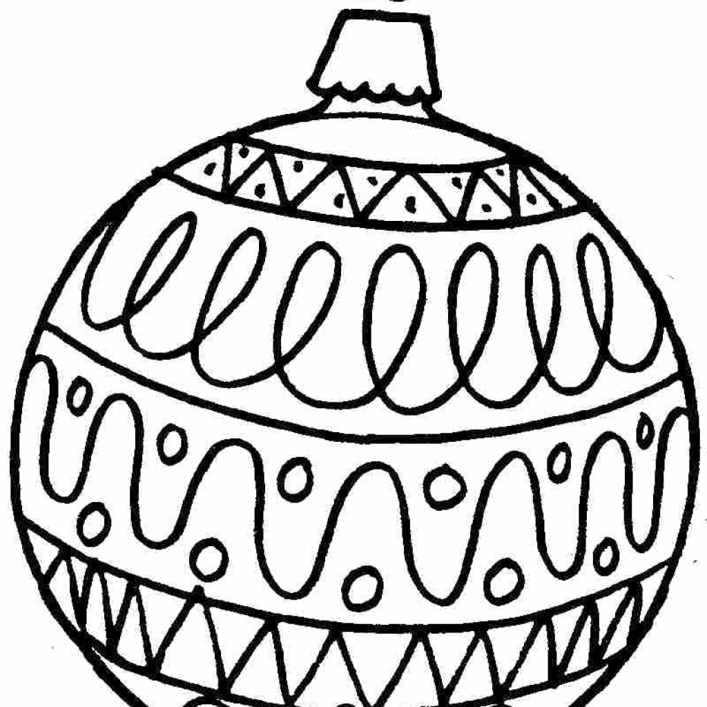 Christmas Ball Printable Coloring Pages With Ornament Page For Kids