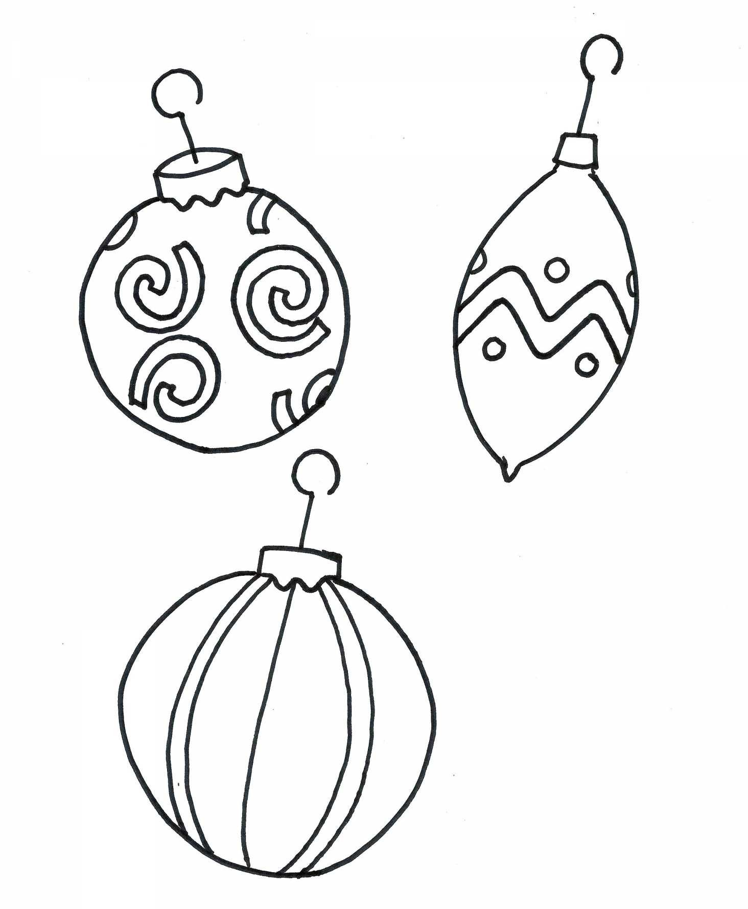 Christmas Ball Printable Coloring Pages With Tree Decorations Sheets Refrence