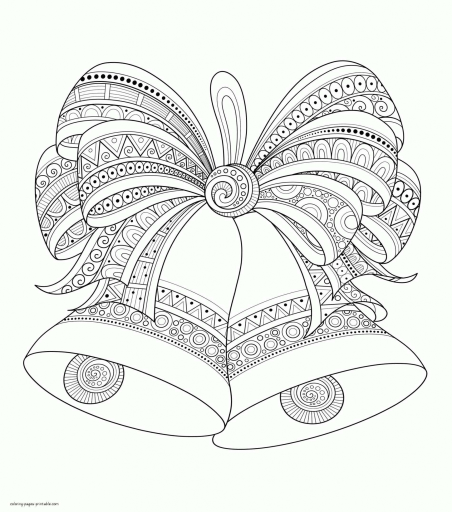 Christmas Bell Coloring Page Printable With Bells Pages Cpaaffiliate For Of A