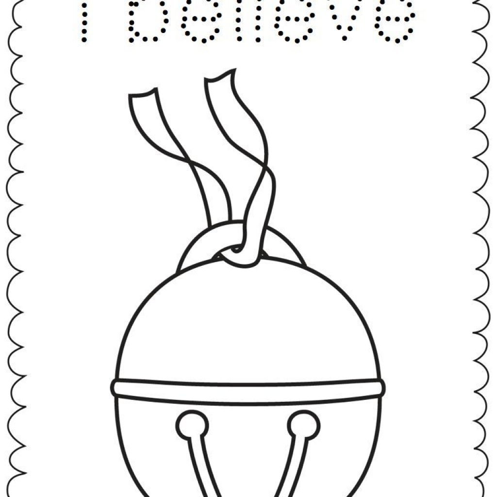 Christmas Bell Coloring Page Printable With Clipart Colouring Pencil And In Color