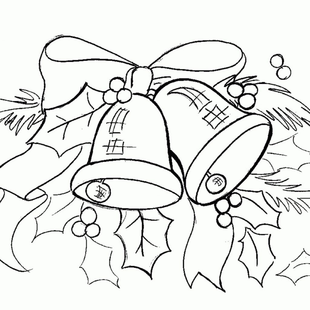 Christmas Bell Coloring Page Printable With Free Pages Bells 15 Chengrenpian Me