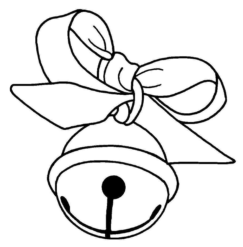 Christmas Bell Coloring Page Printable With Free Pictures Of Jingle Bells Download Clip Art