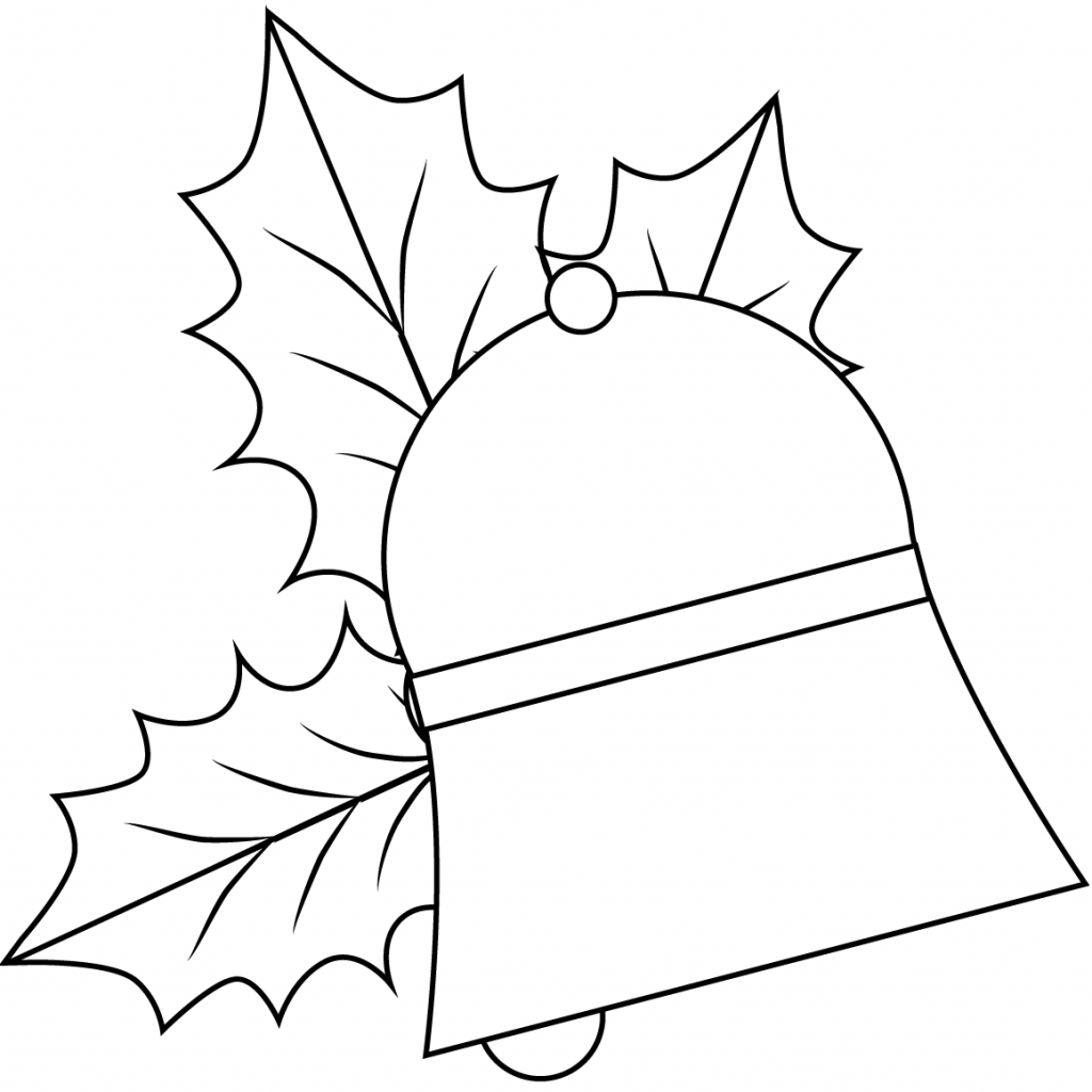 Christmas Bell Coloring Page Printable With From Jingle Bells Category Select