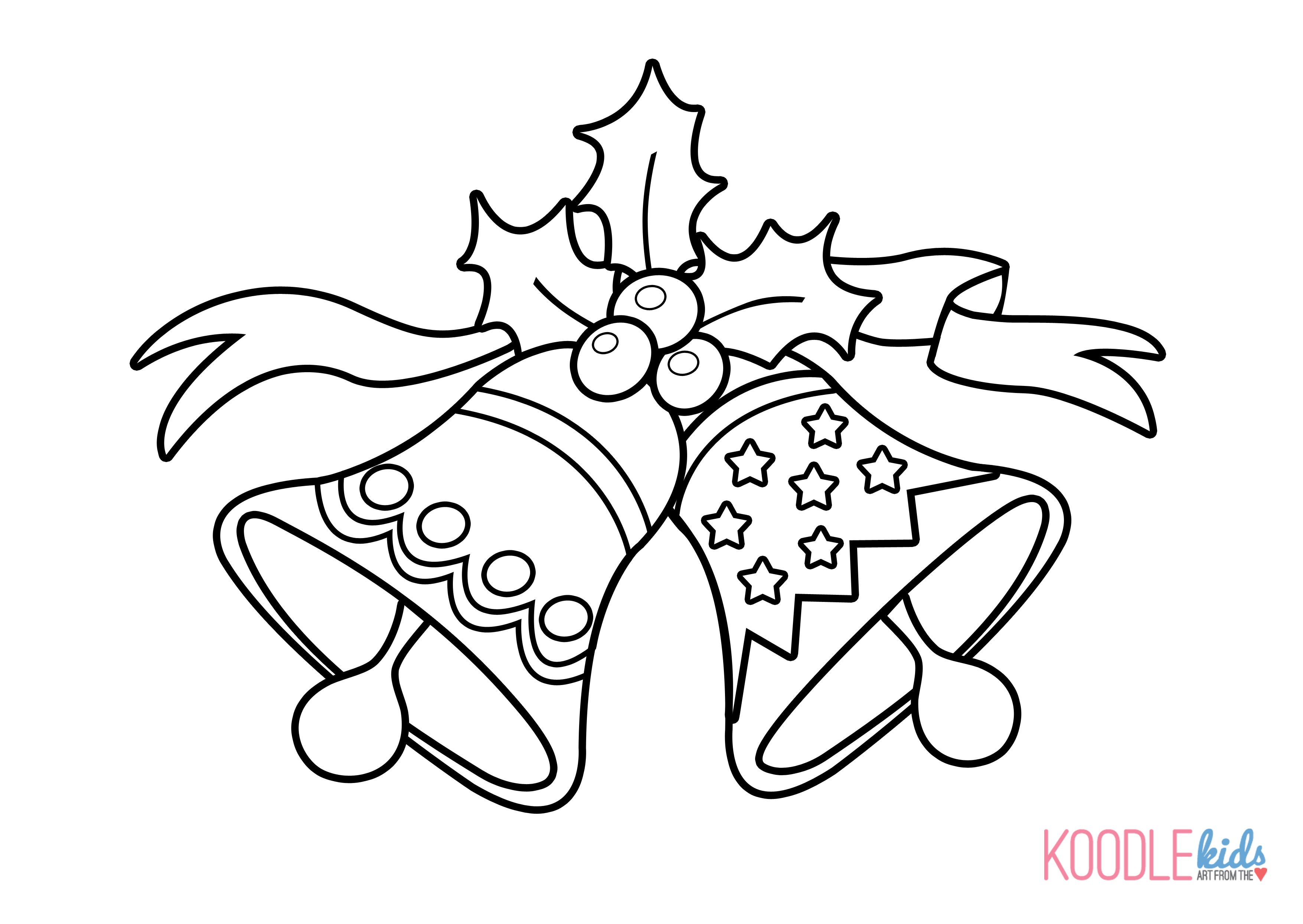 Christmas Bell Coloring Page Printable With Images Of Pages Bells Google Search