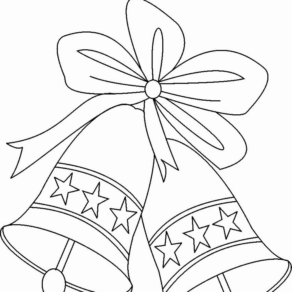 Christmas Bell Coloring Page Printable With Stocking Sheet Best Of Bells Pages