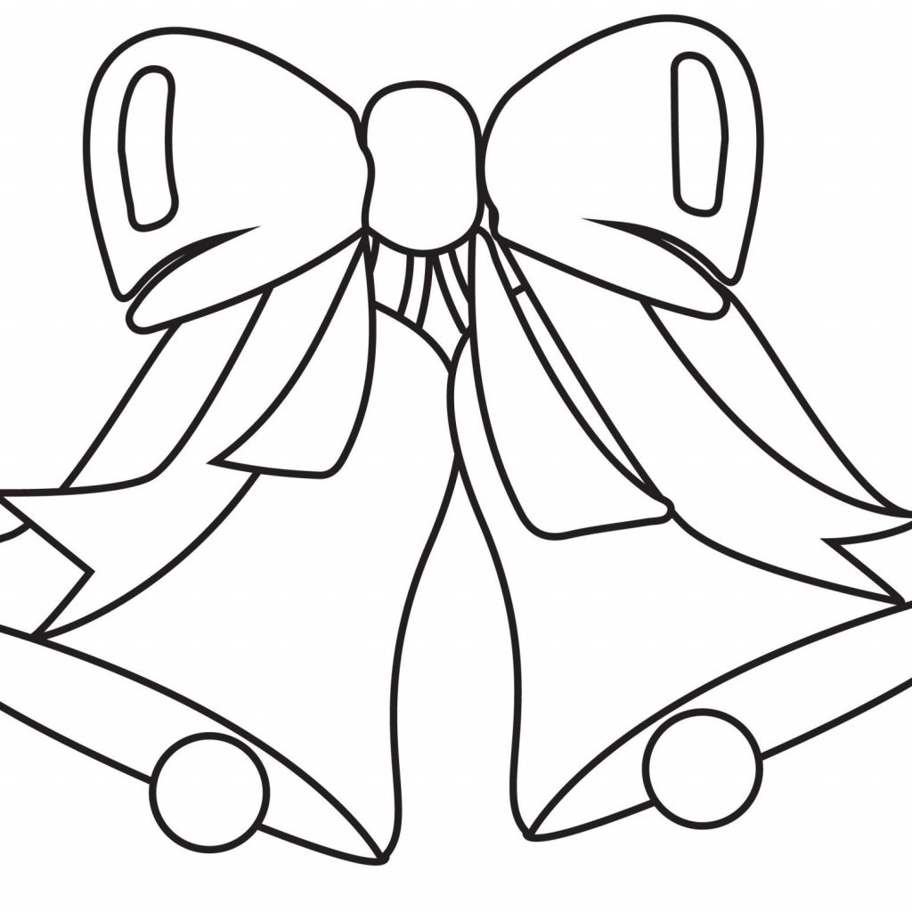 Christmas Bell Coloring Pages With