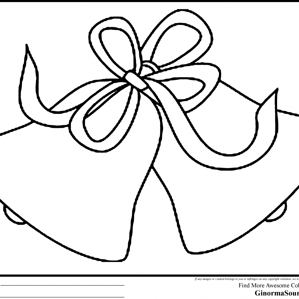 Christmas Bell Coloring Pages With 28 Collection Of Wedding Bells High Quality Free