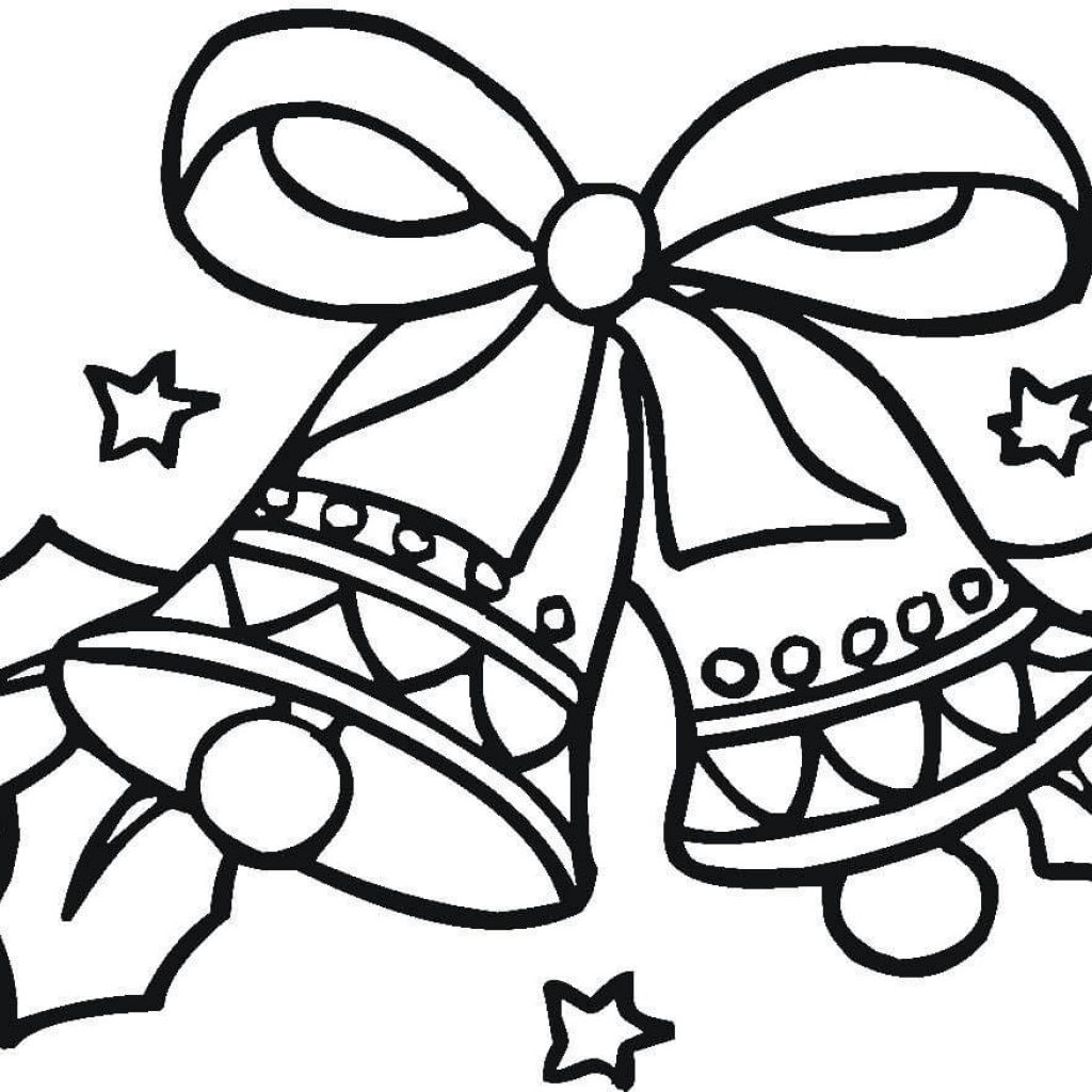 Christmas Bell Coloring Pages With Bells Page Free Printable