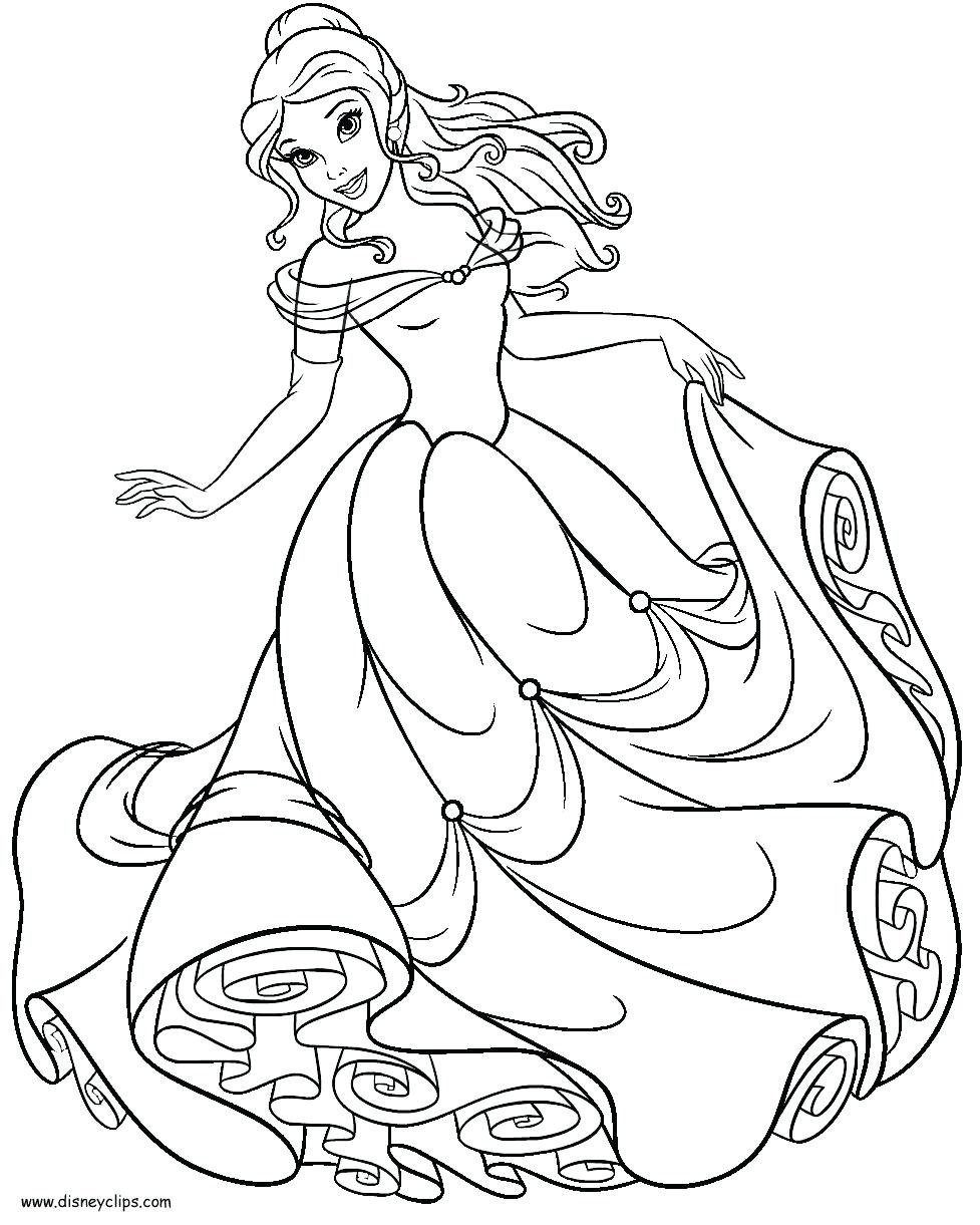 Christmas Bell Coloring Pages With Fascinating Princess Belle Page Colouring Online