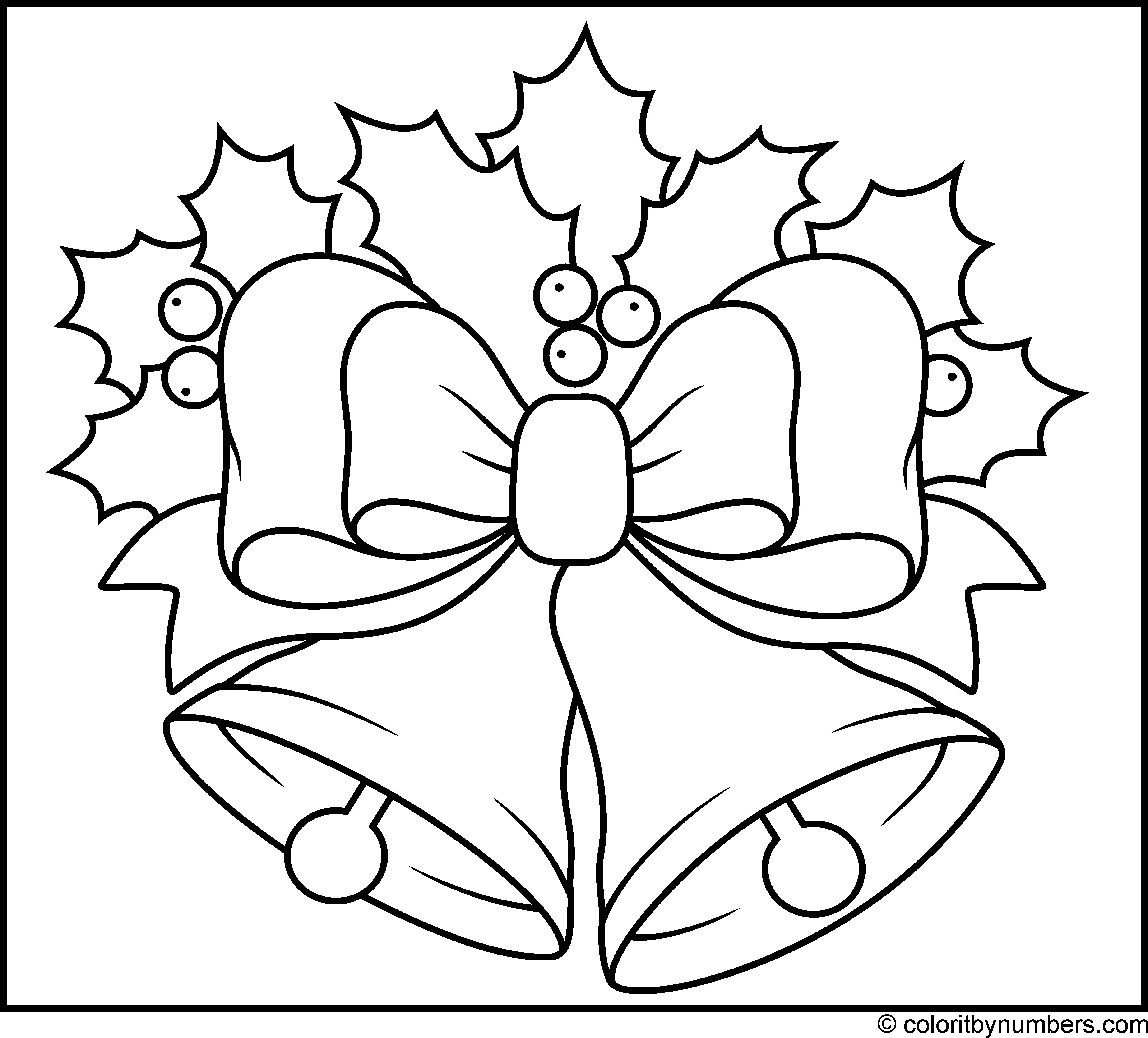 Christmas Bell Coloring Pages With Free Bells 5 Futurama Me