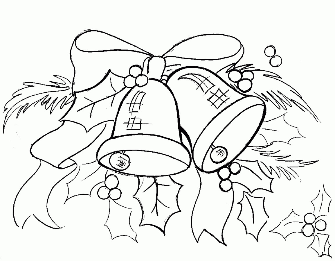 Christmas Bell Coloring Pages With Free Printable Bells 15 Chengrenpian Me