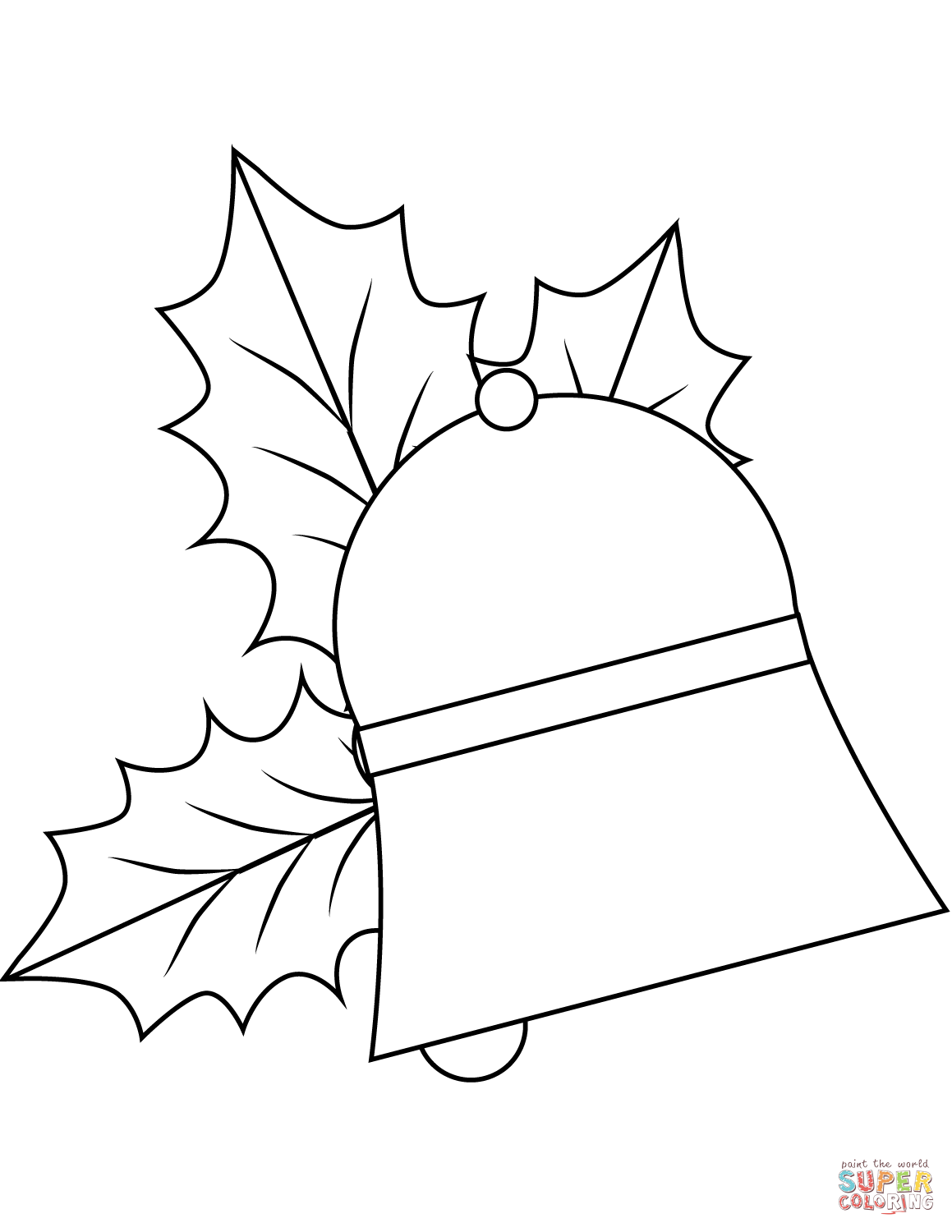 Christmas Bell Coloring Pages With Page From Jingle Bells Category Select