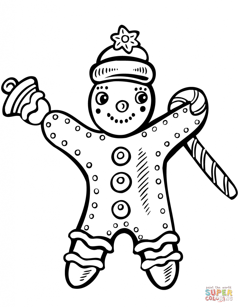 Christmas Bell Coloring Pages With Xmas Bells In Page Of A