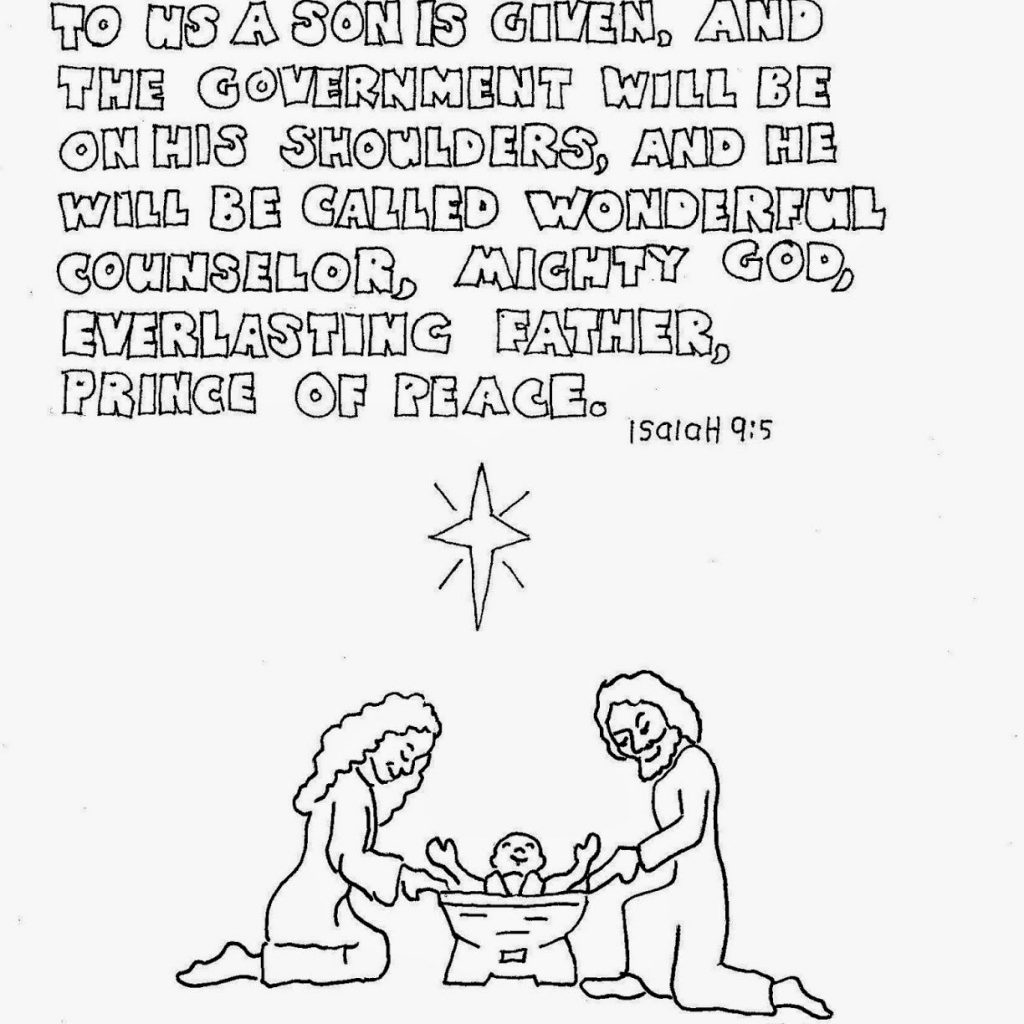 Christmas Bible Verse Coloring Pages With For Kids By Mr Adron Printable