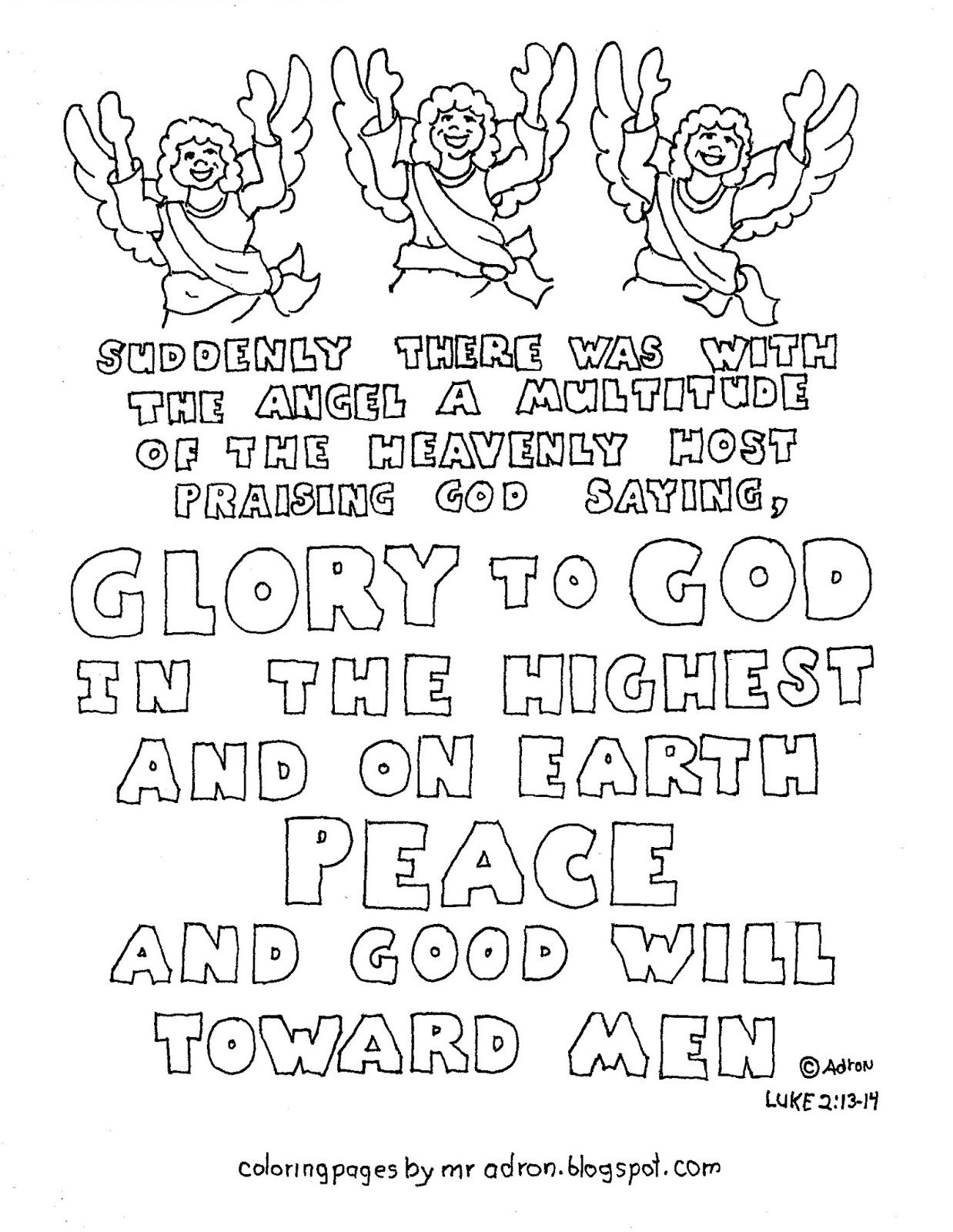 Christmas Bible Verse Coloring Pages With This Printable Page May Be Used In Children S