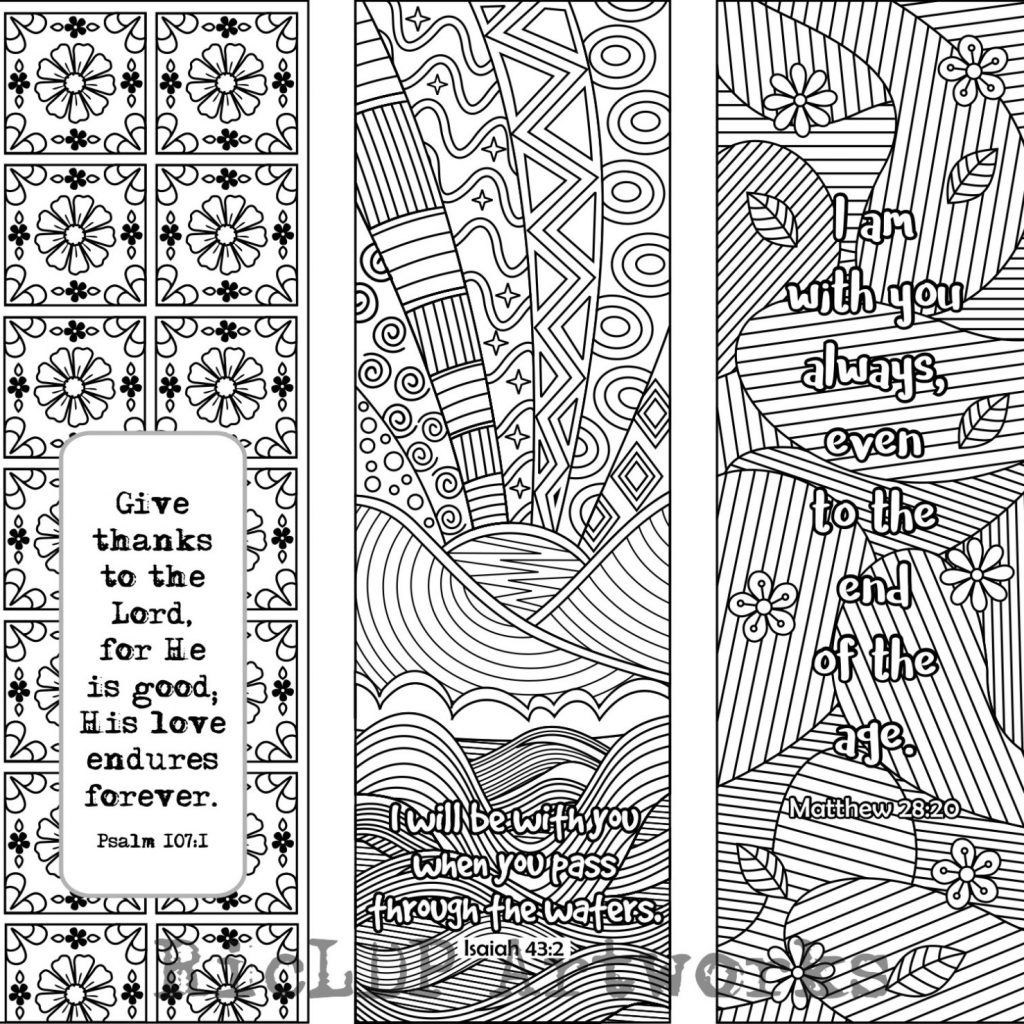 Christmas Bible Verse Coloring With Set Of 6 Bookmarks Plus 3 Designs Etsy