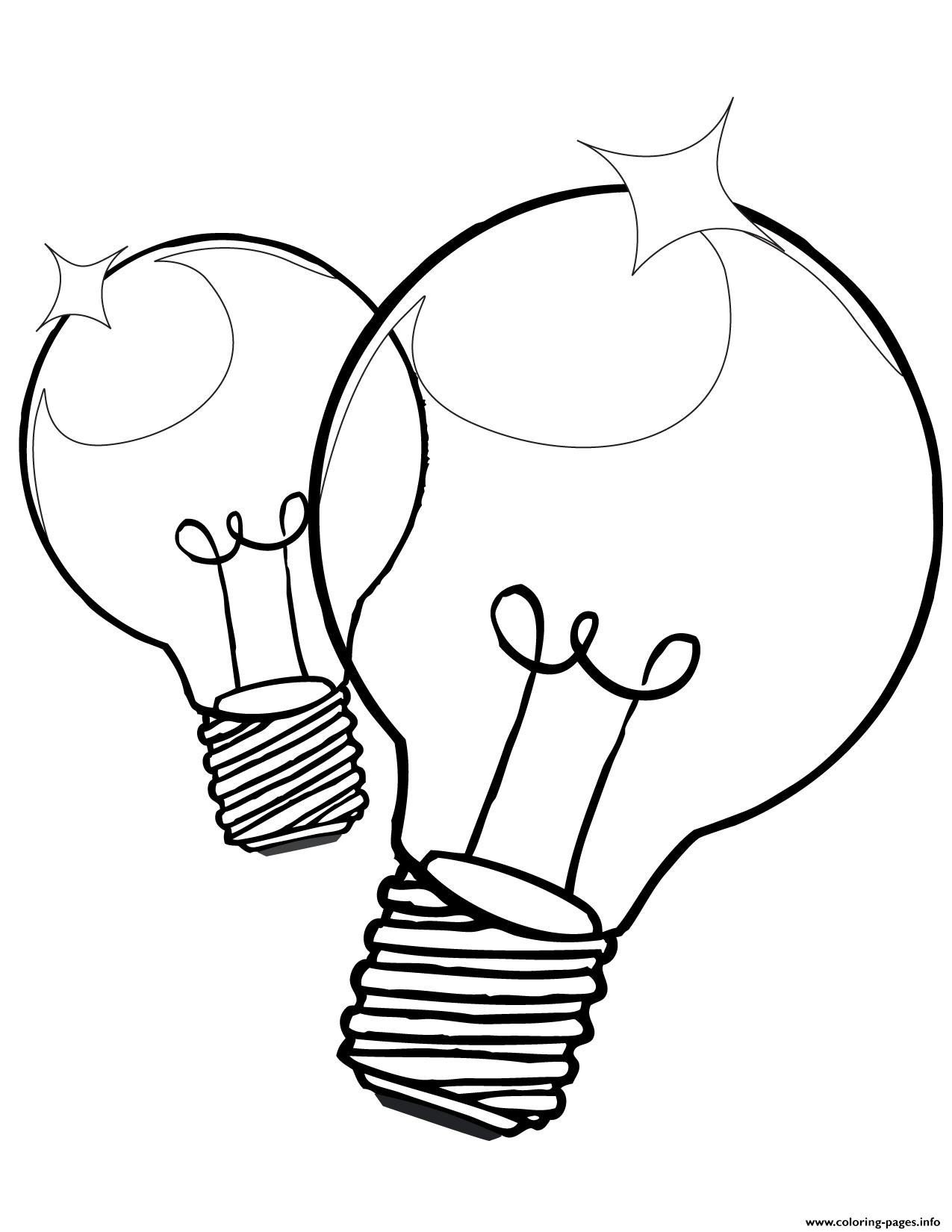 Christmas Bulb Coloring Pages Printable With Light Page