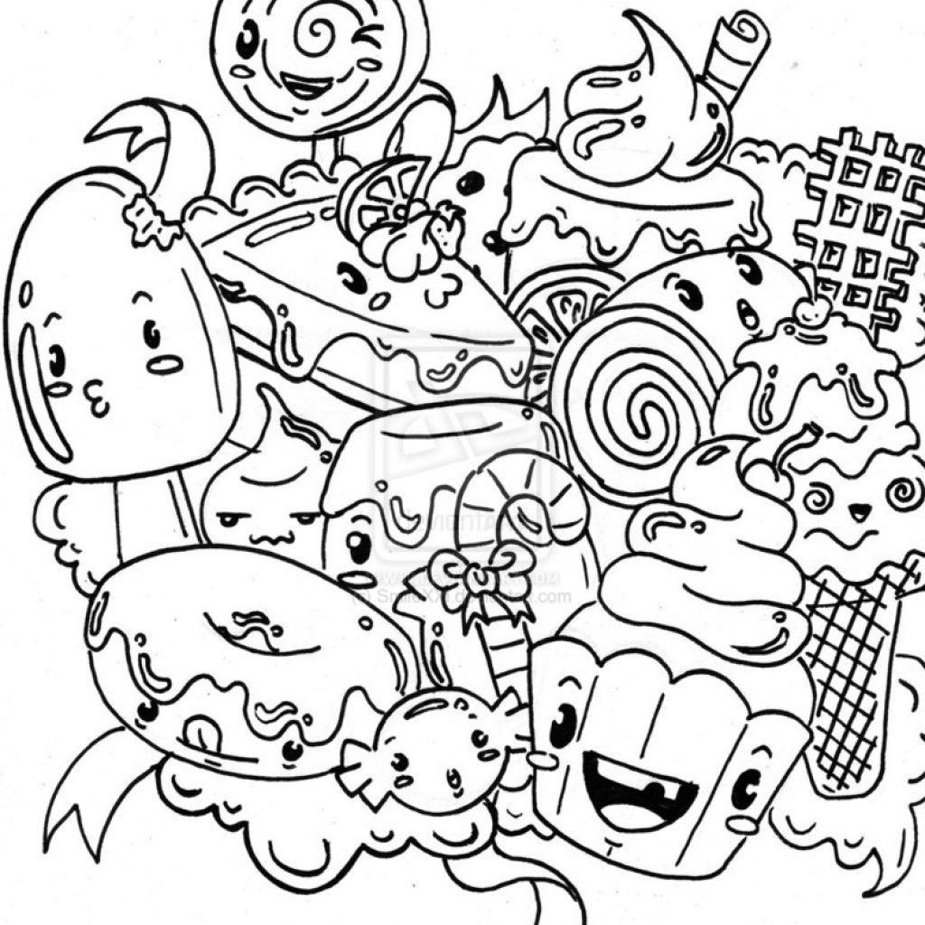 Christmas Candy Coloring Page Printable With 28 Collection Of Cute Pages High Quality Free