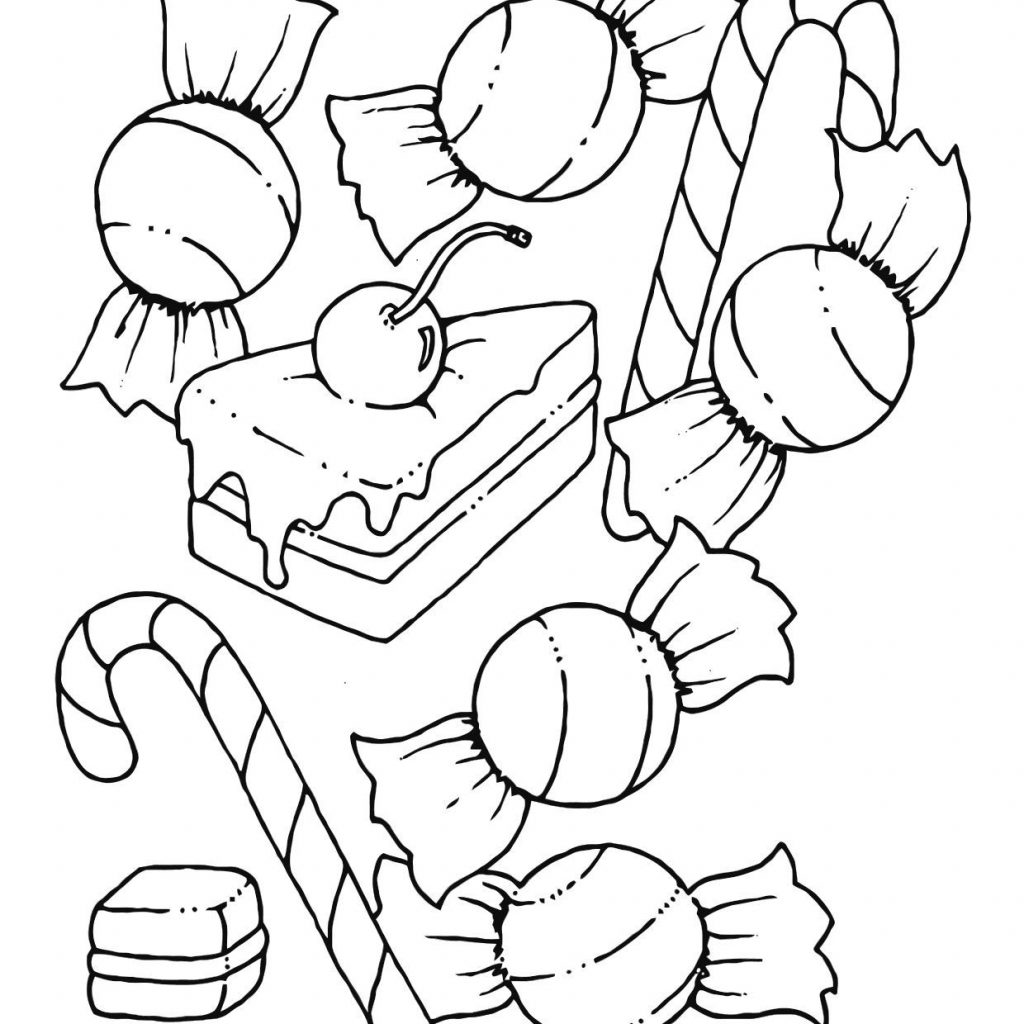 Christmas Candy Coloring Page Printable With Free Pages For Kids Color