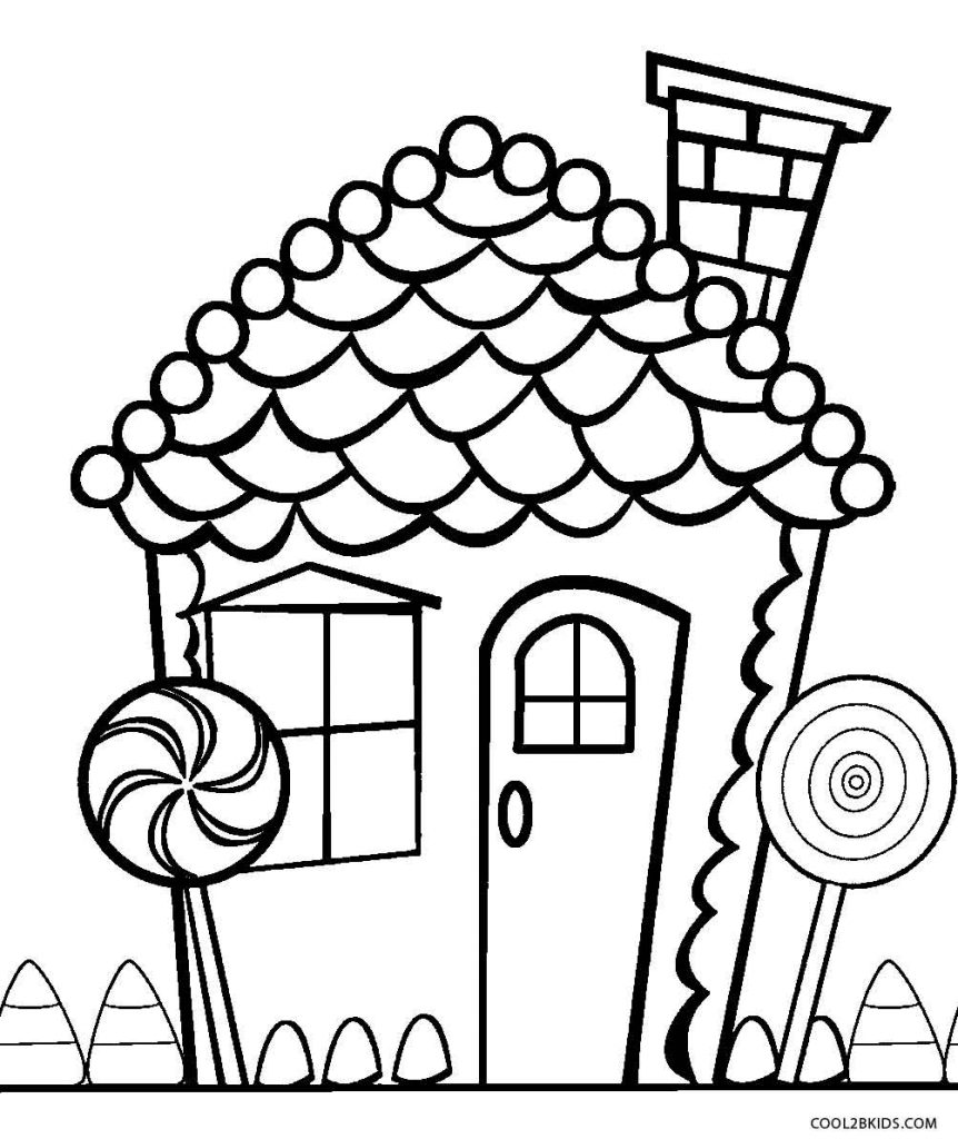 Christmas Candy Coloring Page Printable With Pages 19169