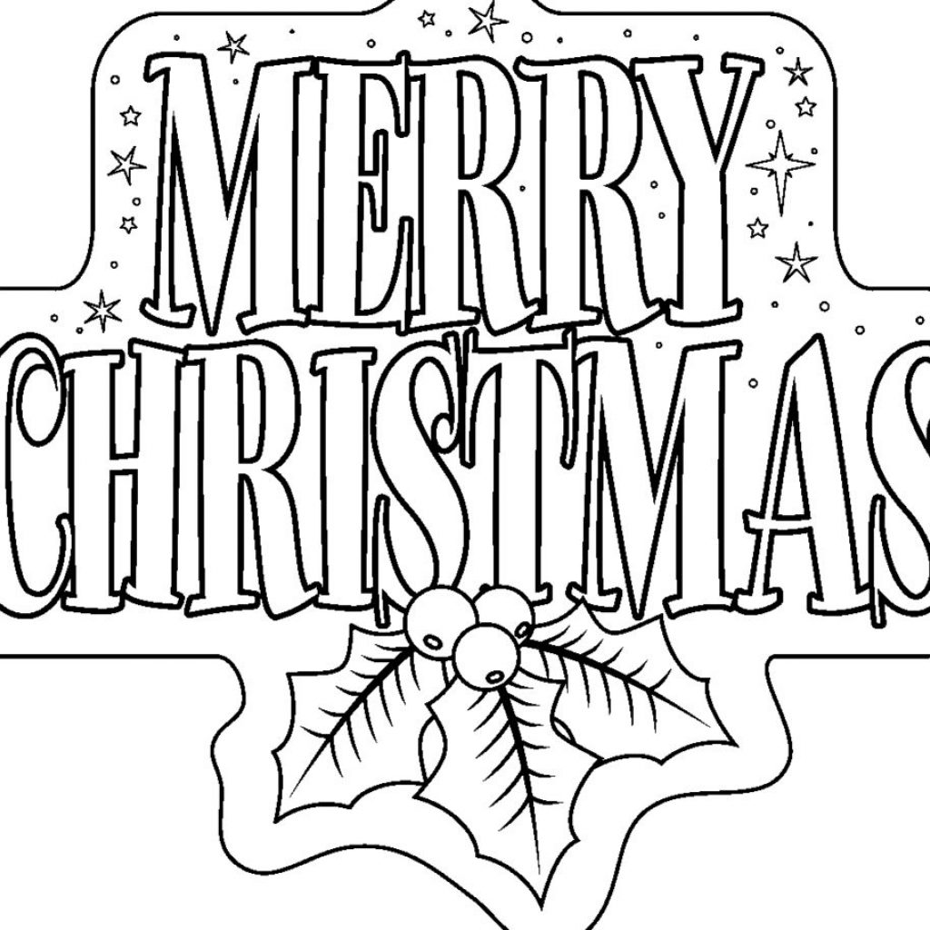 Christmas Card Coloring Pages Pdf With 101 Best For Kids Adults Printable