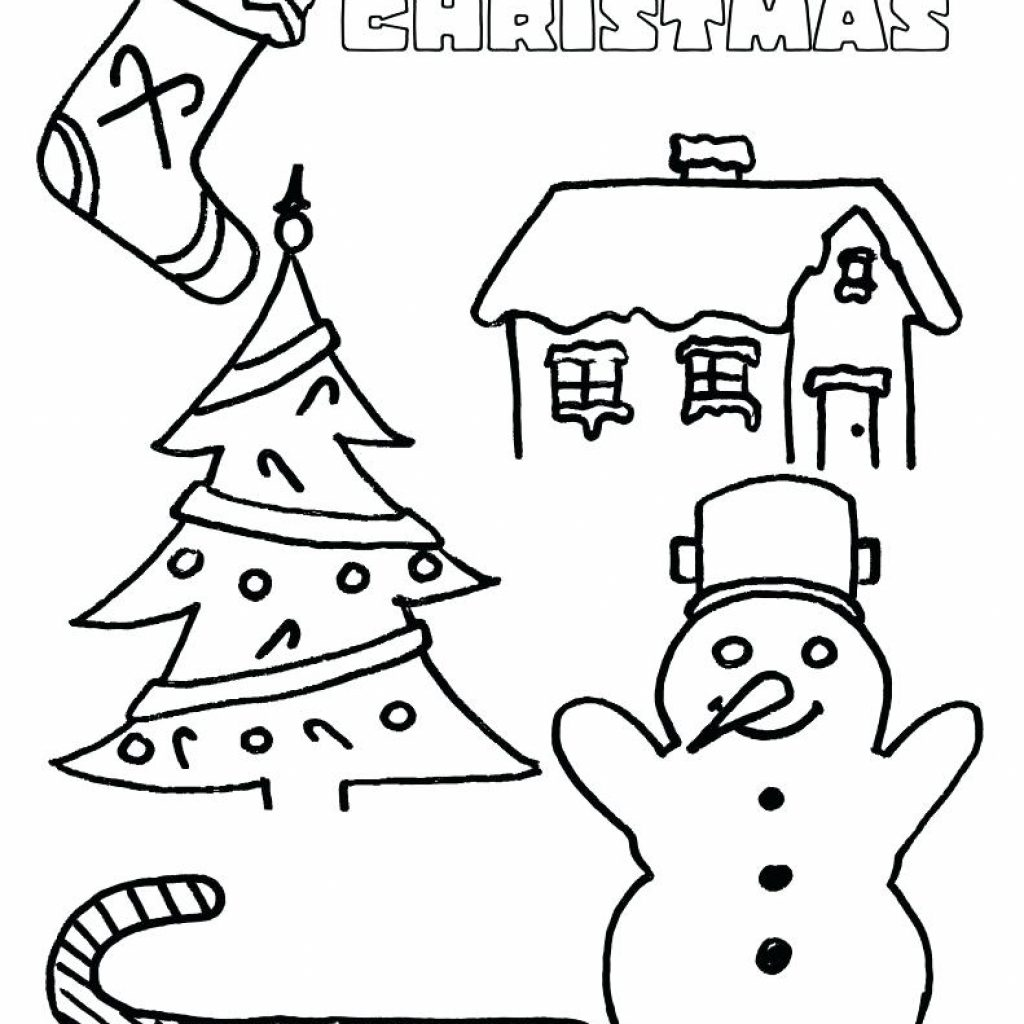 Christmas Card Coloring Pages Pdf With Holiday For Kindergarten