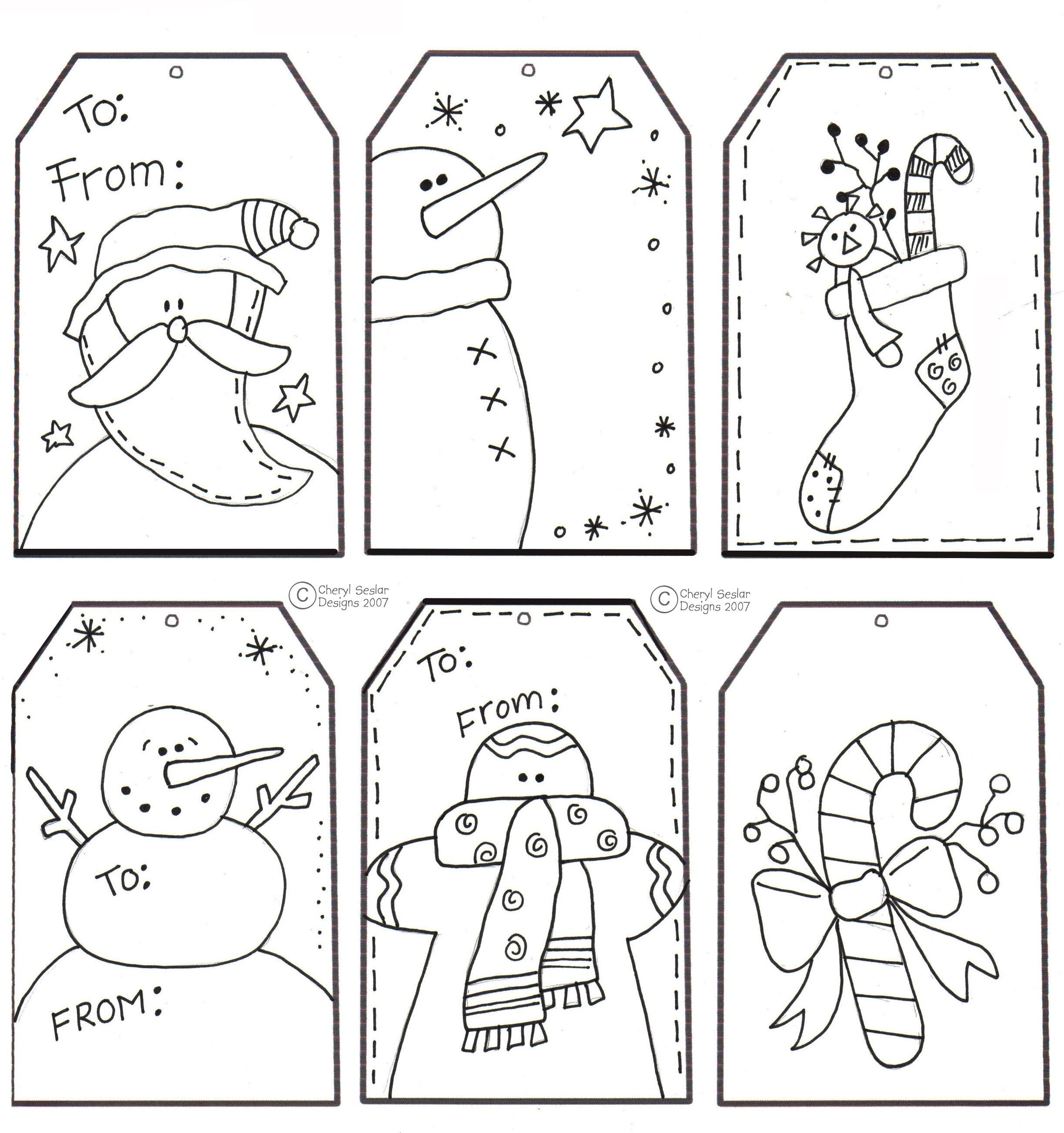 Christmas Card Coloring Pages Pdf With Printable Black And White Page