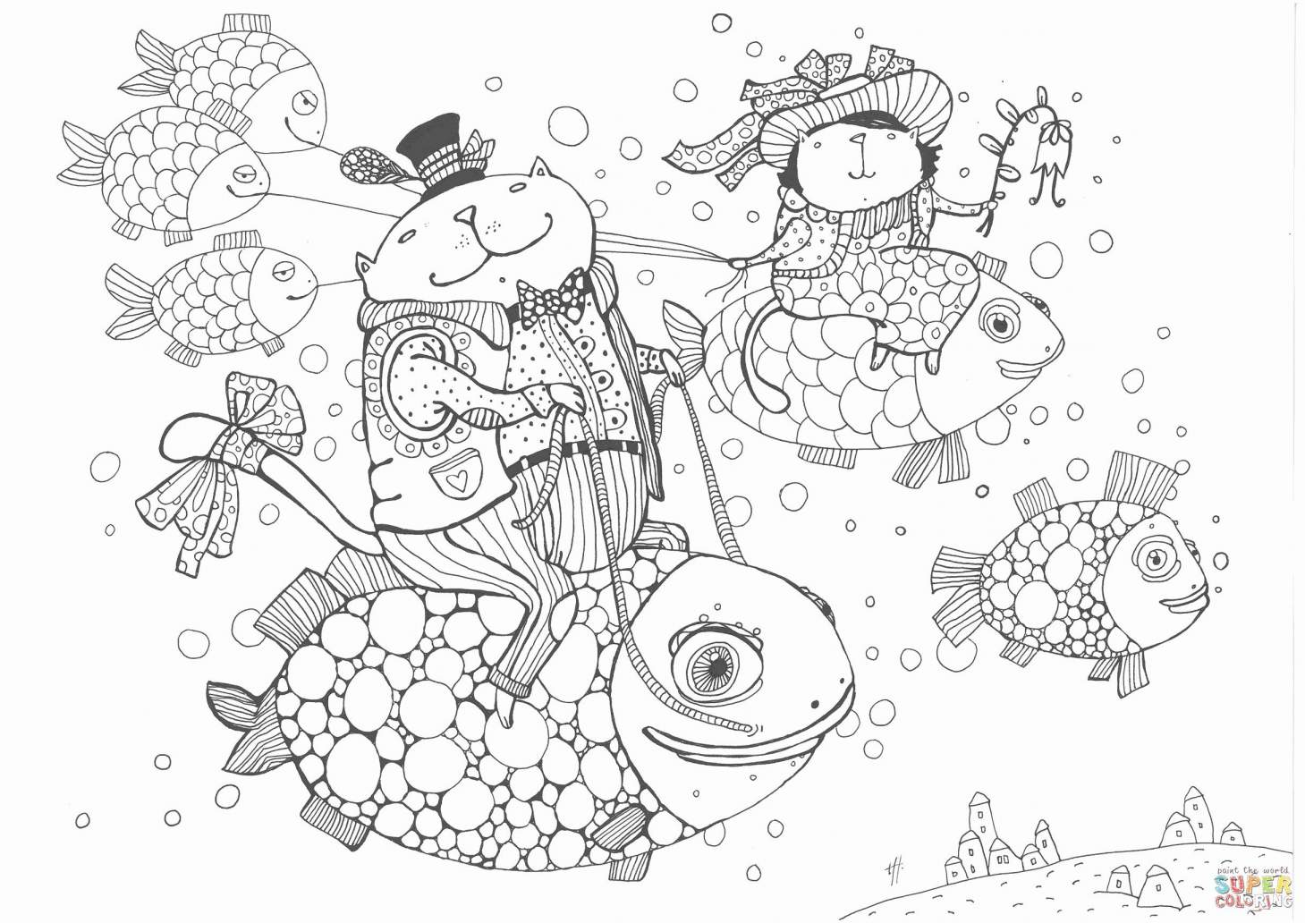 Christmas Card Coloring Pages Printable With Cards