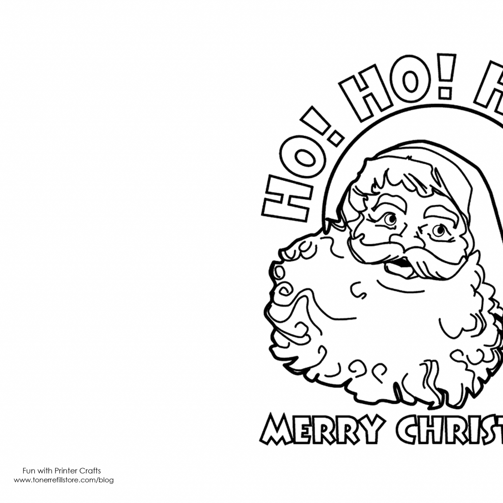 Christmas Card Coloring Pages Printable With Cards Kids Crafts Pinterest