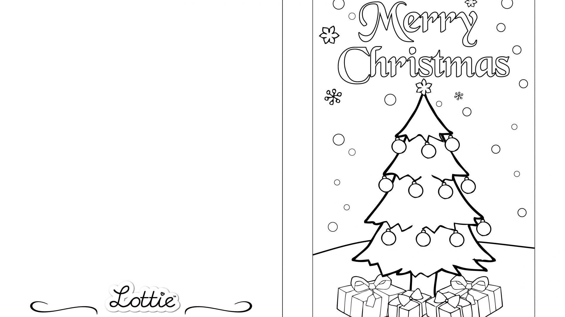 Christmas Card Colouring Pages With Coloring