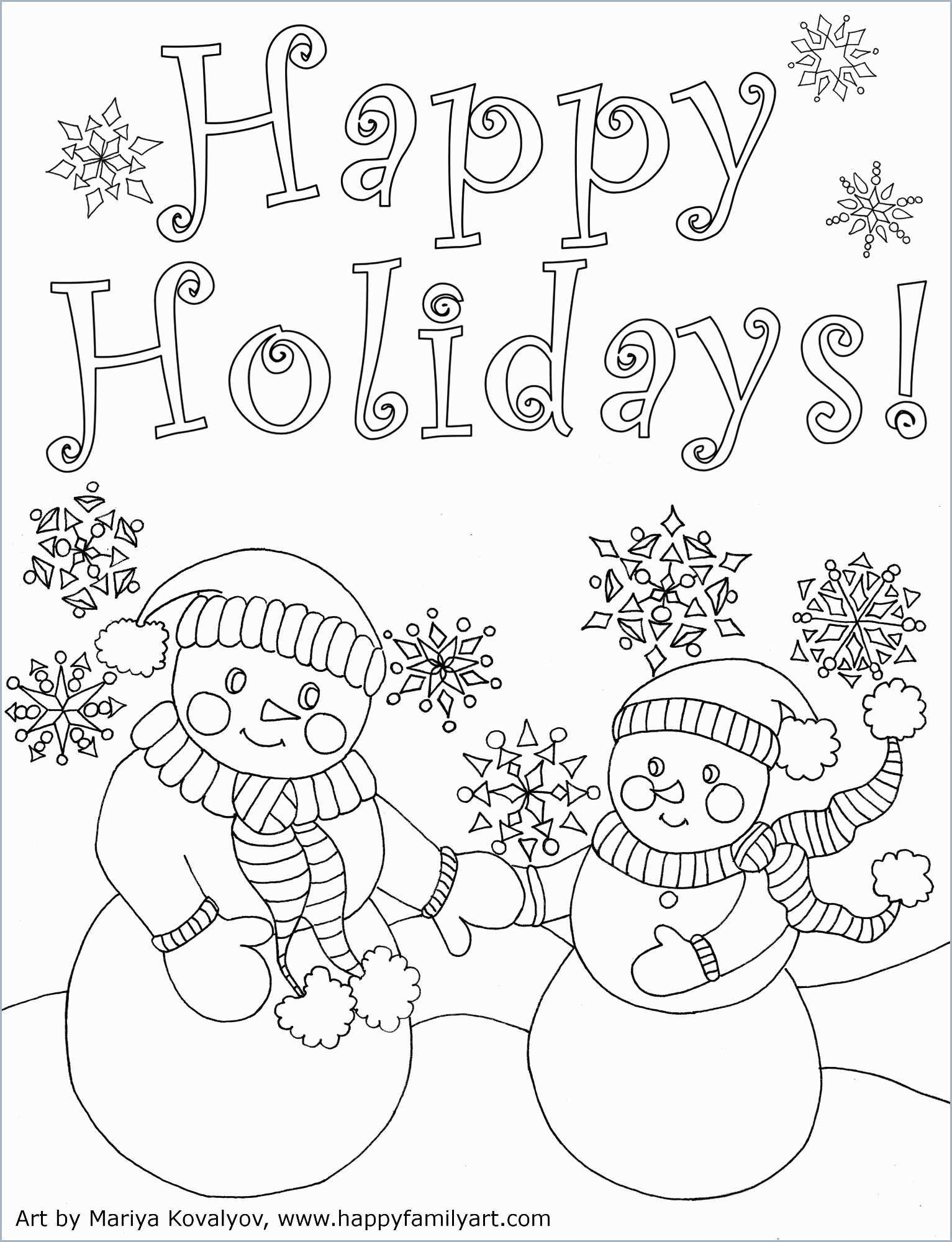 Christmas Cards Coloring Pages With Childrens Best 31 Beautiful Happy