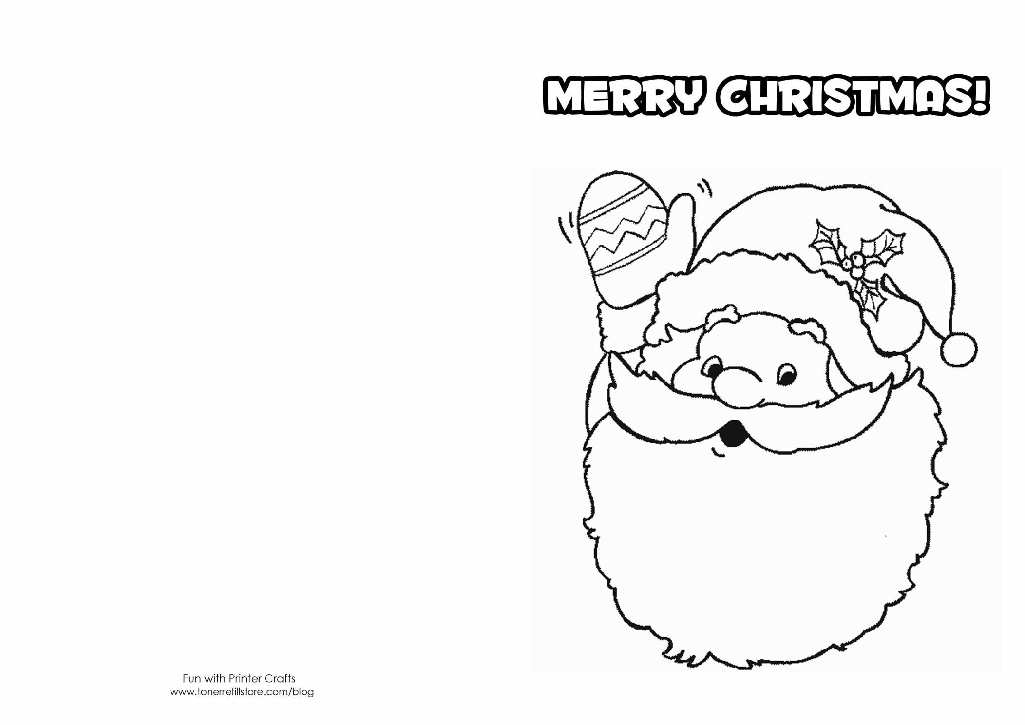 Christmas Cards Coloring Pages With Free Printable Save Merry Card