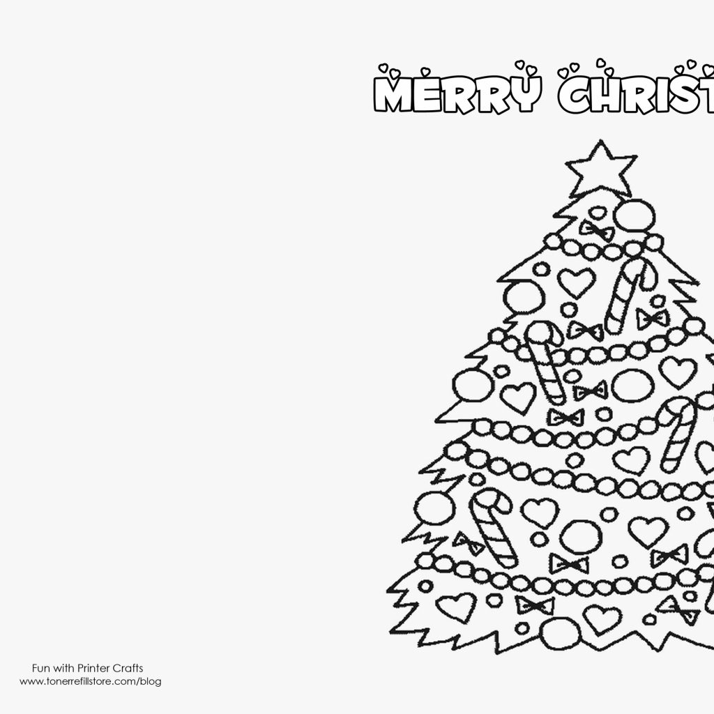 Christmas Cards Coloring Pages With Ideas In